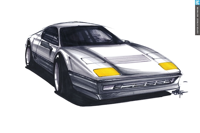 Ferrari 512 Berlinetta Boxer Front Three Quarter