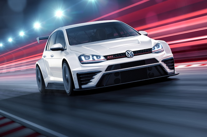 Volkswagen Golf GTI TCR front three quarter