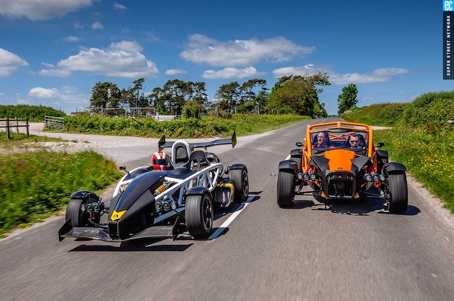2016 Ariel Atom And Nomad Driving Front