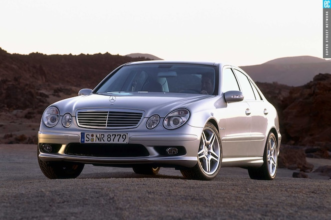 Mercedes E55 Amg Front View