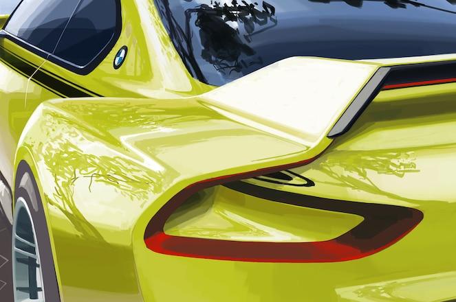 BMW 3 0 CSL Hommage concept teaser