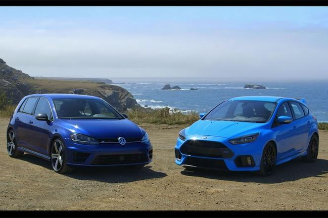 Volkswagen Golf R vs Ford Focus RS
