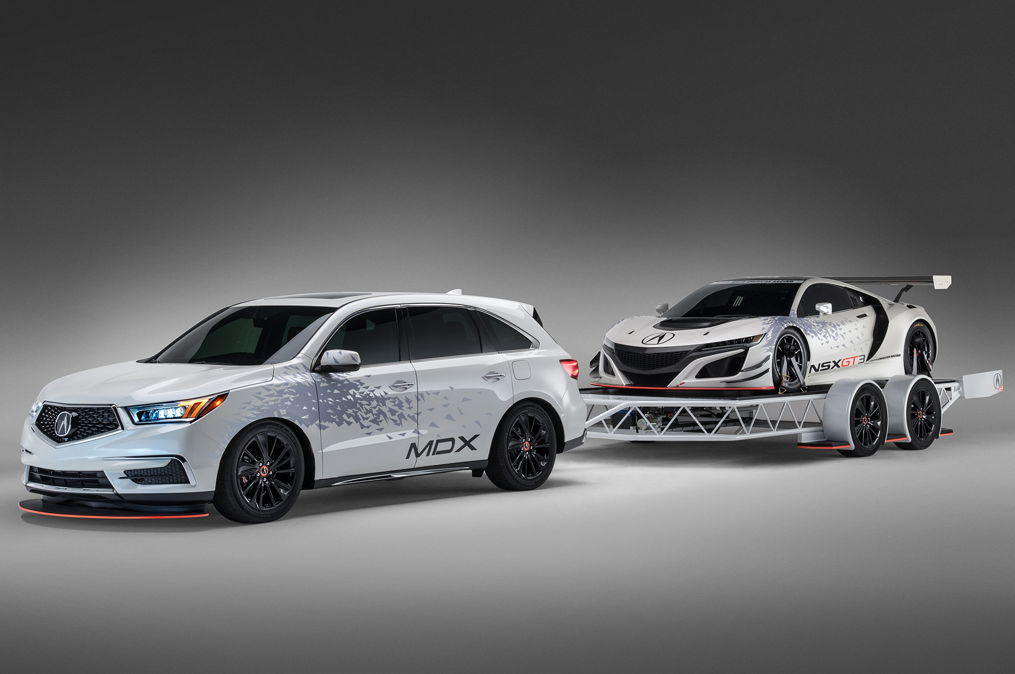 Modified Acura Mdx To Tow Nsx Gt3 Racer To Sema