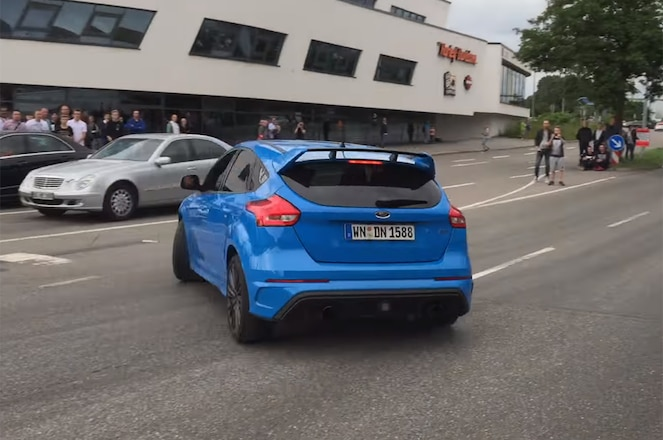 2017 Ford Focus RS Drift Mode fail in Germany video screen shot