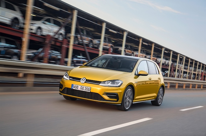2018 Volkswagen Golf European Spec front three quarter in motion
