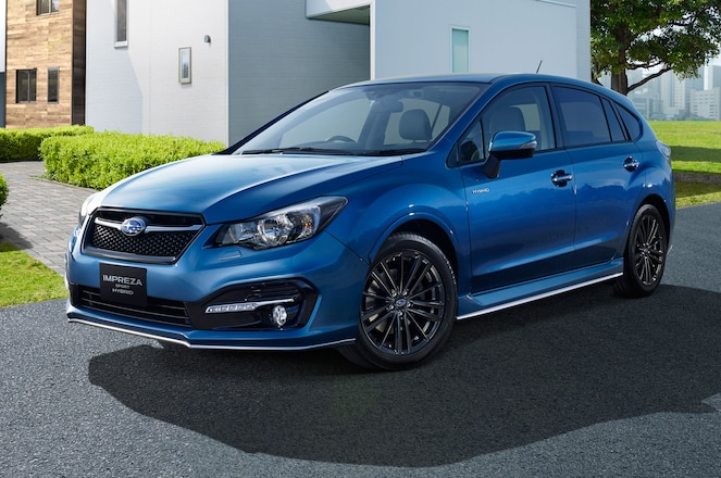 Subaru Impreza Sport Hybrid JDM Front Side View Parked
