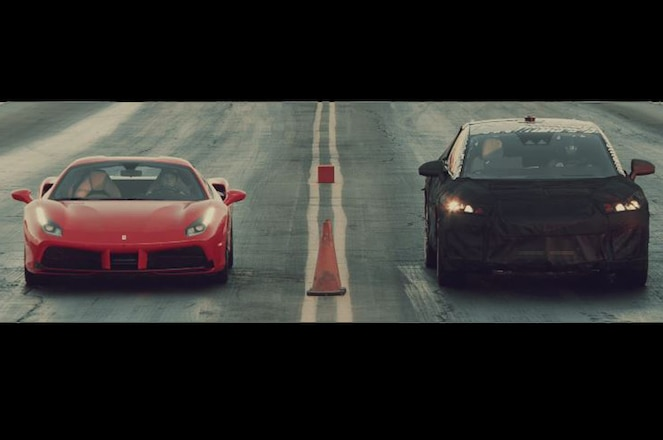 Faraday Future Prototype Drag Races Ferrari 488 Video