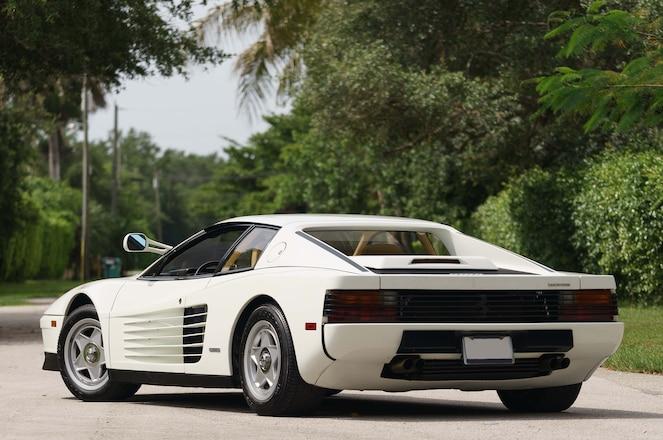 1986 Ferrari Testarossa Miami Vice Hero Car Rear Three Quarter
