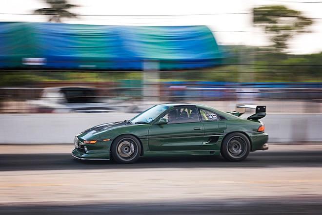 Green Mr2 Drag Racing