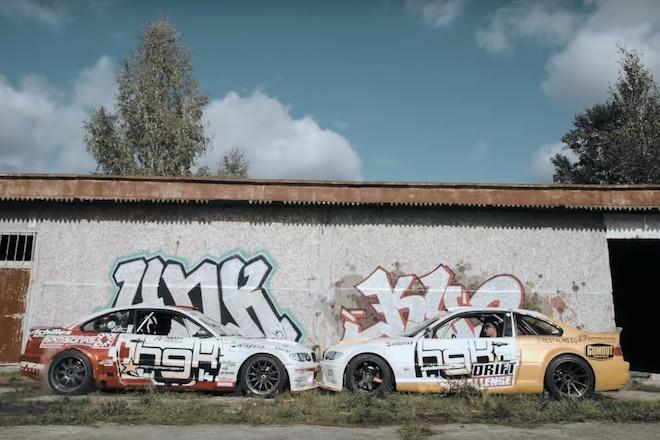 latvia soviet airbase drift video BMWs