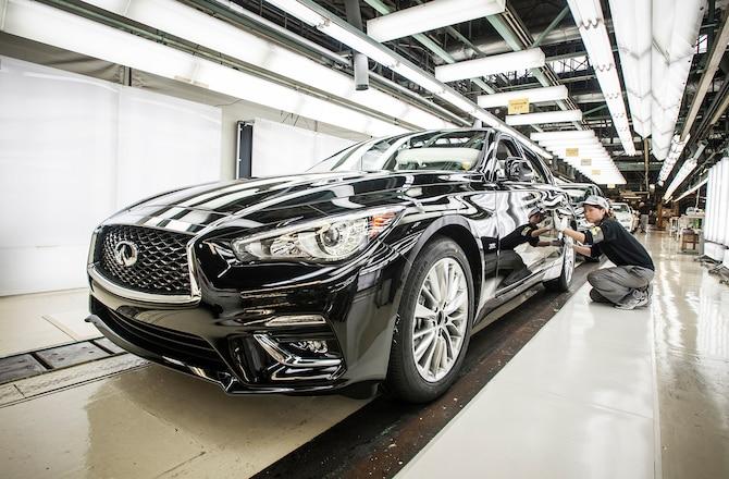 2018 INFINITI Q50 production begins in Japan 01