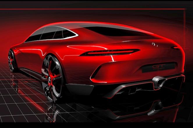 Mercedes AMG GT Concept Showcar teaser