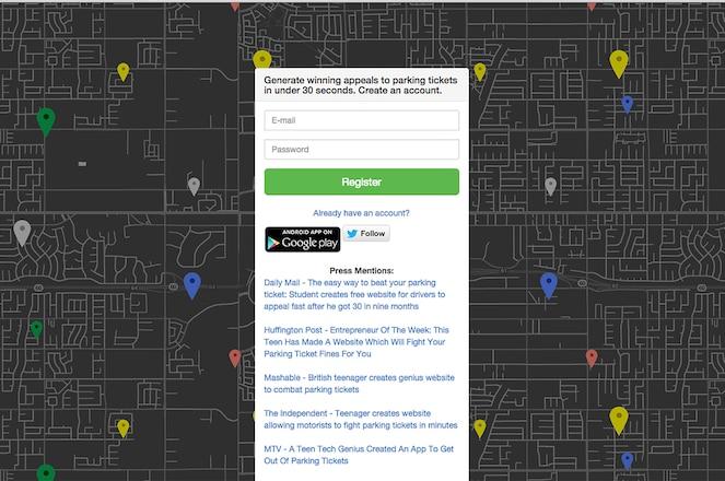Donotpay Homepage Screen Shot
