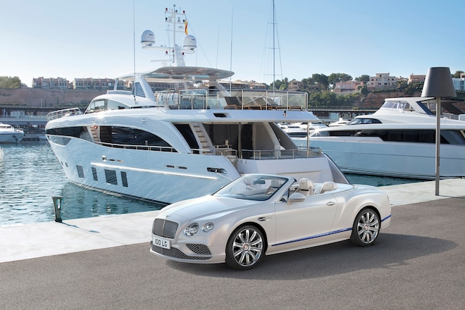 Bentley Continental GT Convertible Galene Editon Front Three Quarters Yacht