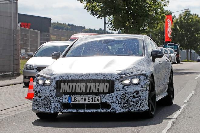 Mercedes AMG GT4 spied testing 02
