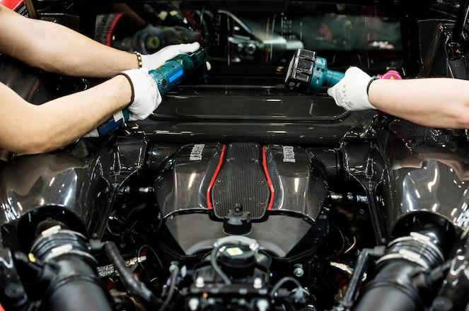 2019 Ferrari 488 Pista factory assembly 35