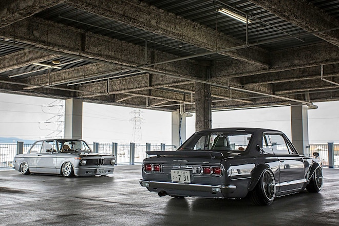 1970 Nissan Skyline 2000 GTX 1975 BMW 2002