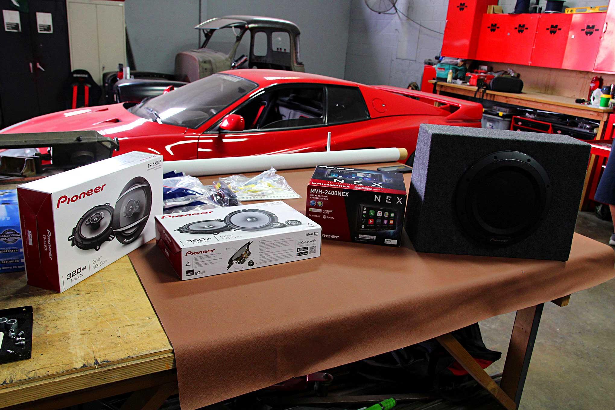 Car Front Door Speaker Adapter Plates+Frame Wiring Harness For Honda Civic