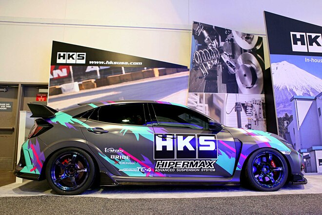 HKS 2018 SEMA Booth HKS Civic Type R