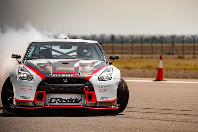 Nissan GT R World Record Drift Car front in motion 1