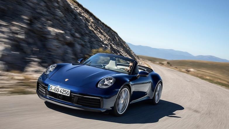 2020 Porsche 911 Carrera S And 4S Cabriolet Blue
