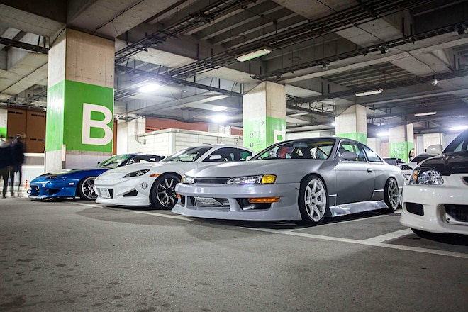 Osaka Border Line Car Meet Nissan Silvia S14
