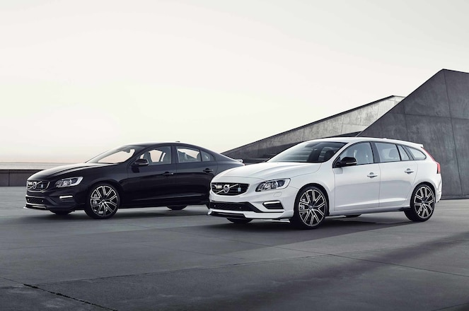 2018 Volvo S60 and V60 Polestar group shot