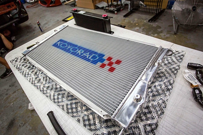 Scion FRS Koyo Radiator Install Koyorad Hyper Core