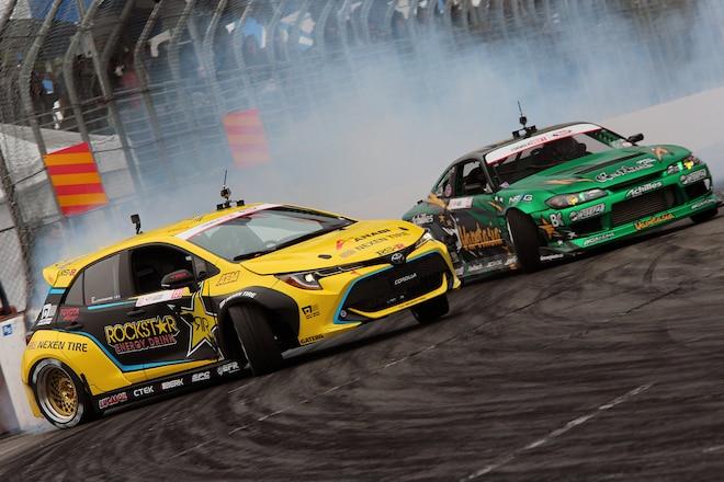 Fredric Aasbo, Rockstar Corolla Take Formula D '18 Round 1