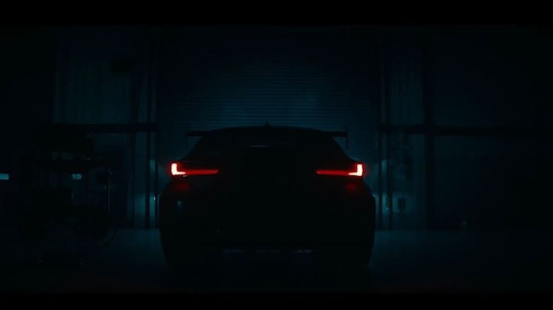 2020 Lexus RC F Track Edition Rear End Teaser