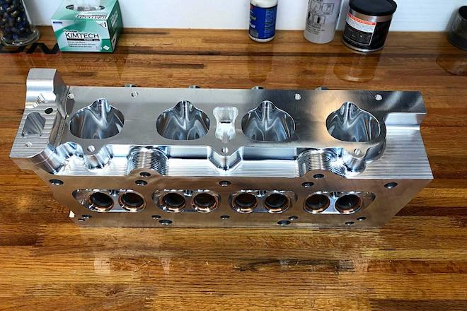 4 Piston's K-Series Billet Cylinder Head