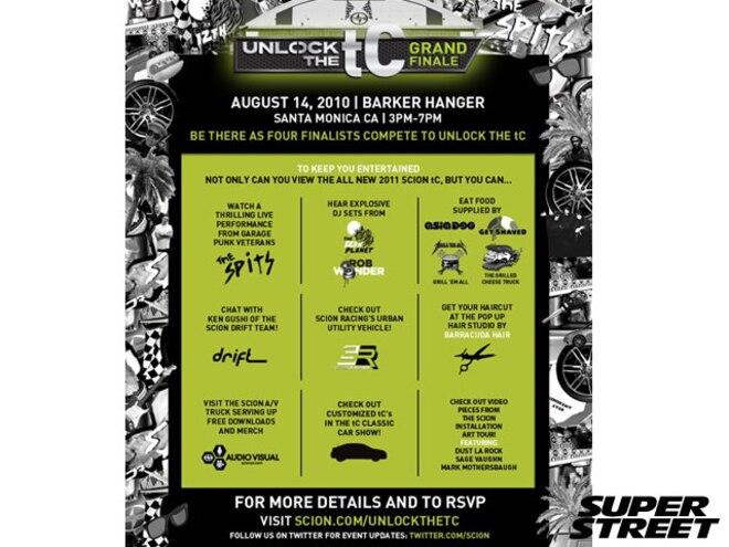 Scion's Unlock The tC Grand Finale