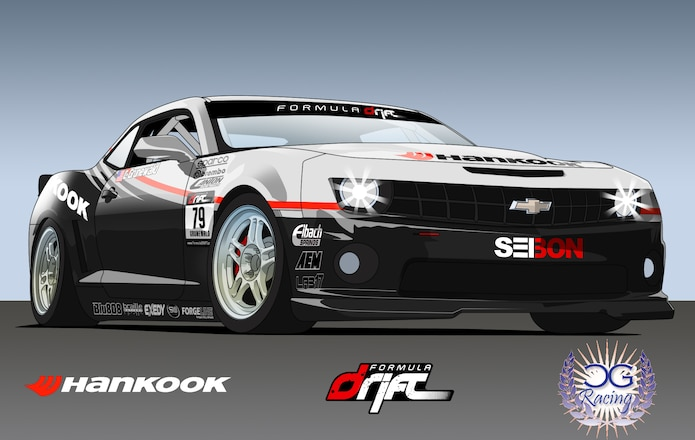 Custom 2010 Camaro Constructed for Competition in 2010 Formula DRIFT Championship