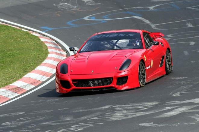 ferrari 599xx sets record on nurbugring