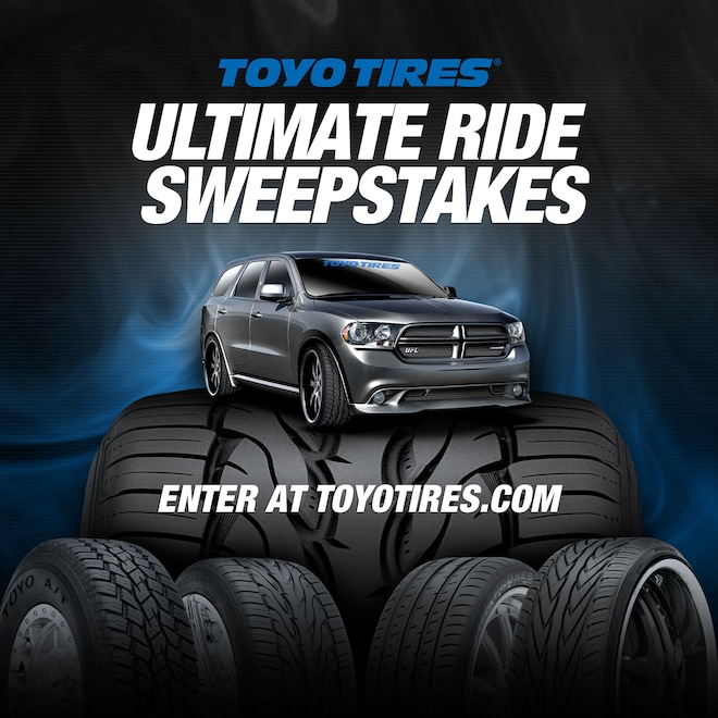 Toyo Tires® Launches The Ultimate Ride Sweepstakes