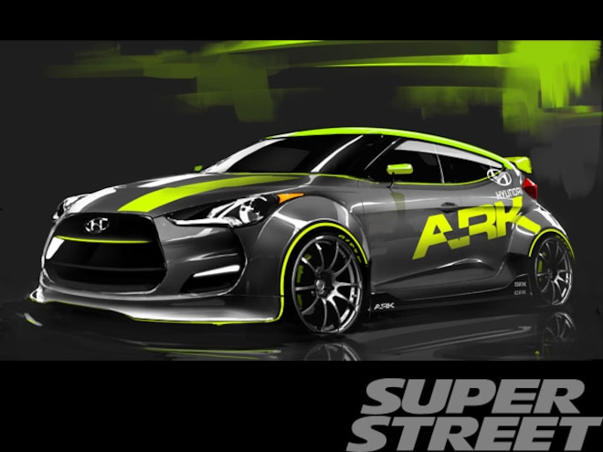 ARK Performance to Unvaeil Rally-Ready Hyundai Veloster at Sema Show 2011