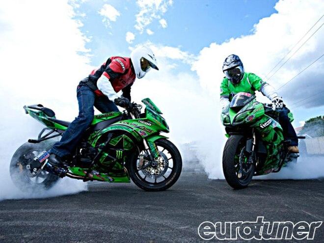 Jason Britton & Team No Limit Stunt Riding At Motorcycle Shows