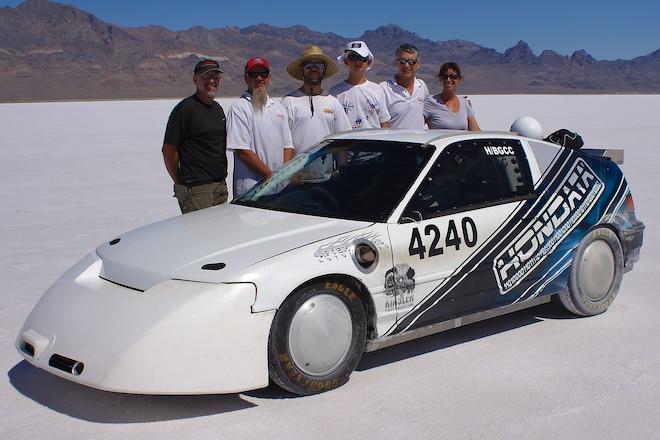 Honda CRX Landspeed Racing Team Set New Speed Record 01