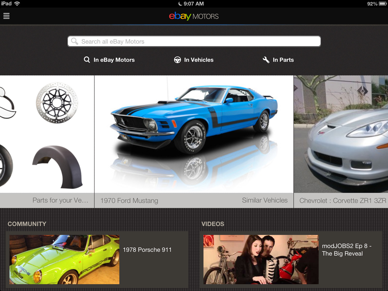 Ebay Motors Ios 2 0 App Now For Ipad European Car