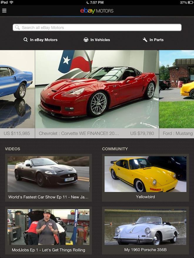 Ebay Motors Ios 2 0 App Now For Ipad Photo Image Gallery