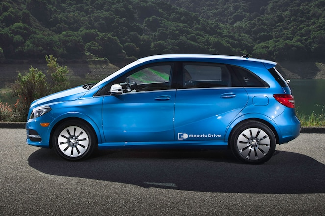 2014 Mercedes Benz B Class Electric Drive Side View