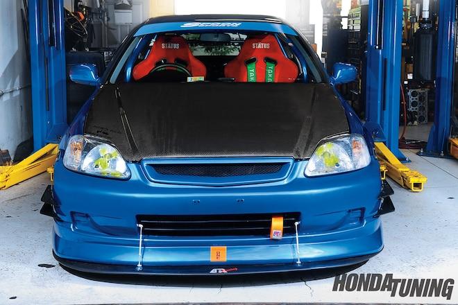 1999 Honda Civic DX Spoon Carbon Fiber Hood 01