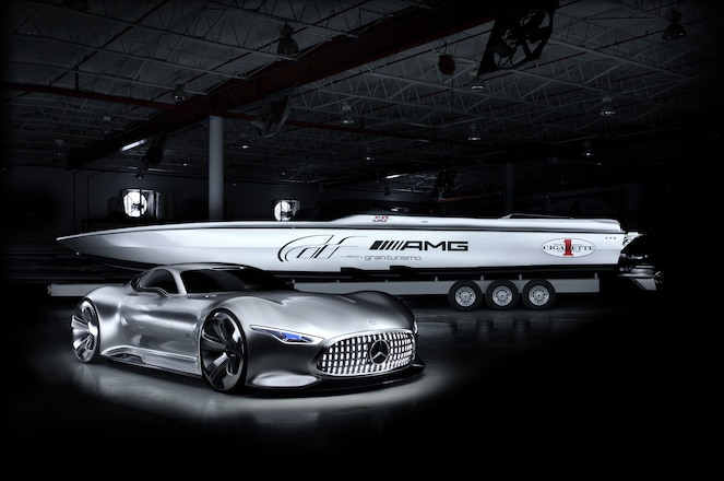 Mercedes Benz AMG Vision Gran Turismo speed boat