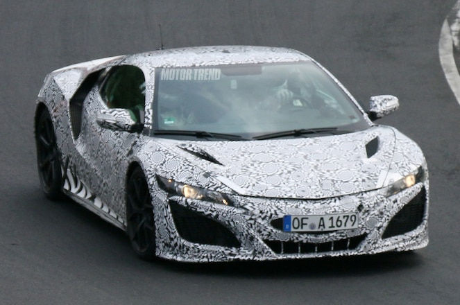 2015 Acura NSX Prototype Testing Front Right Side
