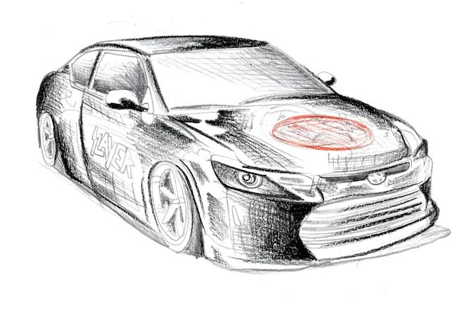 Slayer Riley Hawk Inspired Scion Vehciles To Debut At SEMA Tc Design Sketch