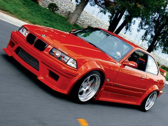 Red 1995 Bmw M3 Featured Custom Vehicles Eurotuner Magazine