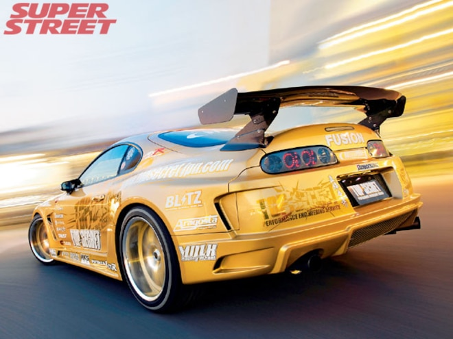 Top Secret's V-12 Twin Turbo Toyota Supra - V-12