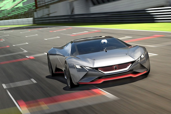 Peugeot Vision Gran Turismo Front View In Motion