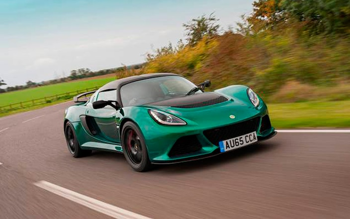 Lotus Exige Sport 350 front three quarter in motion