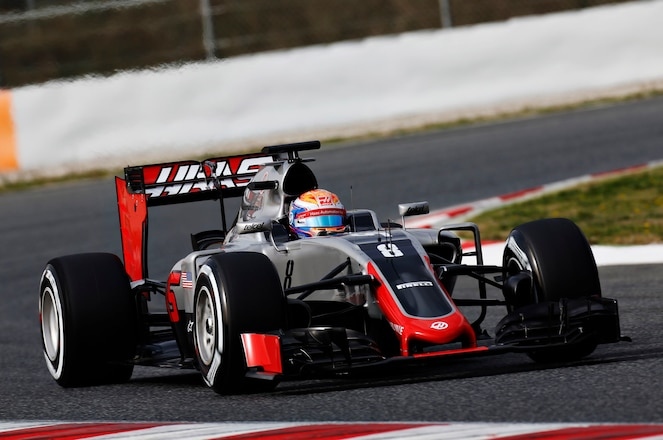 Haas VF 16 Racecar Front View